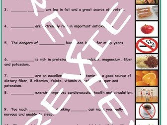 Healthy Lifestyle and Nutrition 3 Photo Worksheet Set