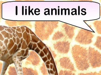 I Like Animals (Rhyming ebook with activities)