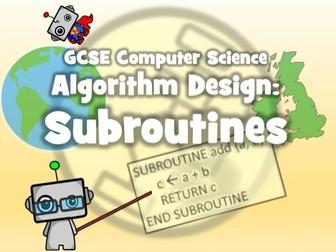 GCSE 9-1 Computer Science:Algorithm Design - Subroutines