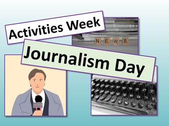 Activities Week - Journalism