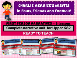 CHARLIE MERRICK'S FRIENDS, FOULS AND FOOTBALLS - COMPLETE  SCHEME OF WORK (8 DAYS)