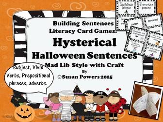 Hysterical Halloween Sentences Activity