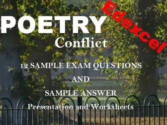 Edexcel Conflict Poetry Bundle