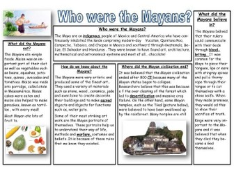 The Mayans - non chronological report information