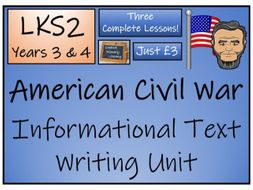 LKS2 History - American Civil War Informational Text Writing Activity