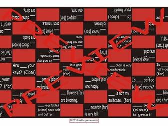 Demonstratives Checker Board Game