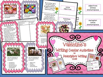 Valentine's Day Creative Writing  Workshop Activities