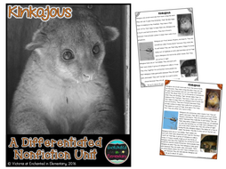 Differentiated Nonfiction Unit: Kinkajous