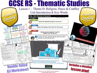 Religion, Peace & Conflict - Introduction - L1/10 [GCSE RS - Thematic Studies - Christian Views] D