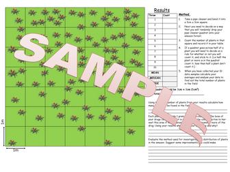 AQA 9-1 Sampling Quadrats required practical