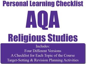 Religion, Crime & Punishment - PLC (Personal Learning Checklist ) [AQA GCSE RS]