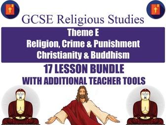 GCSE Christianity & Buddhism - Religion, Crime & Punishment (17 Lessons)