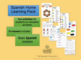 Spanish Home Learning Pack