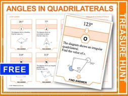 Angles in Quadrilaterals (Treasure Hunt)