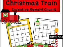 Christmas Train Incentive Reward Sticker Charts