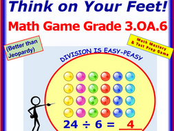 3.OA.6 THINK ON YOUR FEET MATH! Interactive Test Prep Game— Division as An Unknown Factor-Problem