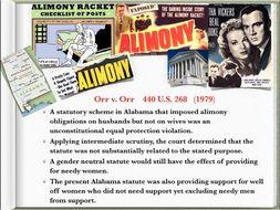 CASE BRIEFS US Supreme Court Law Equal Rights ~ 135 Slides ~ Women