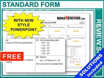 GCSE 9-1 Revision (Standard Form)