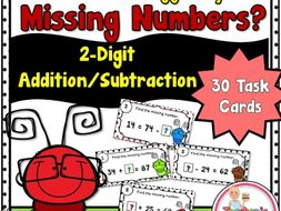 Spring Missing Numbers using 2-Digit Addition and Subtraction