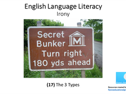 KS4 English Literacy: (17) Irony