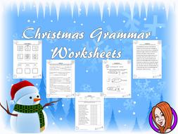 Christmas Grammar Worksheets
