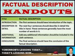 FACTUAL DESCRIPTION HANDOUTS