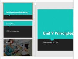 Unit 9 Principles of Marketing QUIZ Revision
