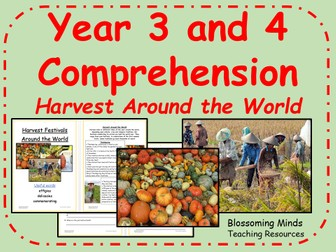 Year 3 and 4 comprehension - Harvest around the world