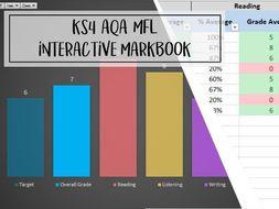 Ultimate KS4 AQA MFL Interactive Markbook - 2018
