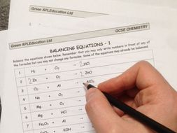 Free Chemistry Balancing Equations By Greenapl Teaching Resources