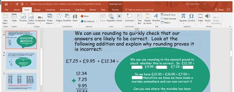 KS2 - Using rounding to estimate and check addition and subtraction calculations