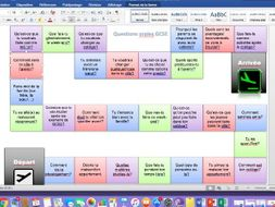 New French GCSE Speaking Game (revision)