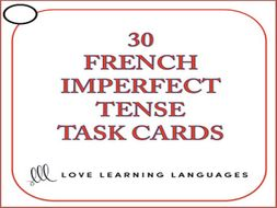 GCSE FRENCH: French Imperfect Tense Task Cards