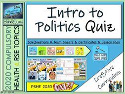 End of Year Politics Quiz