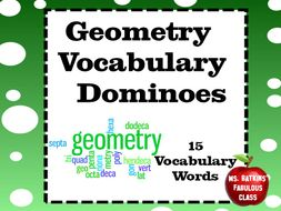 Geometry Vocabulary Dominoes