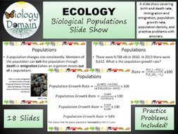 Ecology: Populations Slide Show