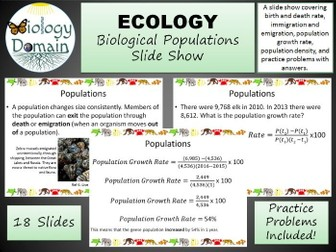 Ecology: Populations Slide Show