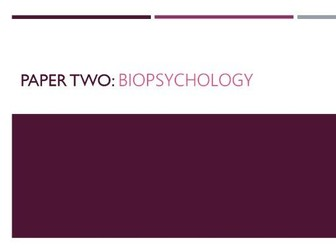 Biopsychology Content Flashcards