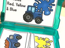 Construction Vehicles Color Matching Task Box