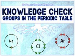 GCSE Chemistry 1-9: Groups in the Periodic Table Knowledge Check