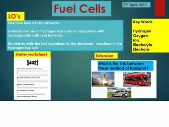 Fuel Cells AQA New Specs 2017