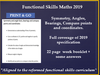 Reformed functional skills. Angles,symmetry,bearing,compass points and coordinates.