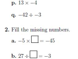 Multiplying and dividing integers worksheet (with answers) by math_w ...