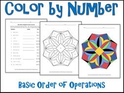 basic order of operations color by number by charlotte james615 teaching resources. Black Bedroom Furniture Sets. Home Design Ideas