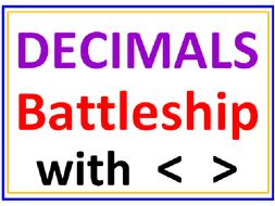 Decimal Battleship with Greater Than Less Than
