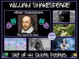 William Shakespeare Quotes Posters