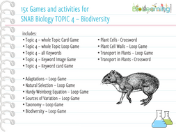 15x Games and Activities for SNAB Topic 4 - Biodiversity