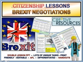 Brexit Negotiations and Transition Period x2 lessons