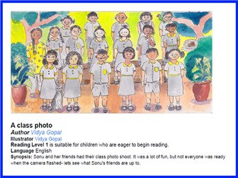 Can You Spot It? Class Photo - Level 1 Reading
