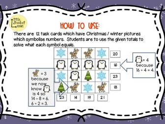 Christmas / Winter  Shape Logic Puzzles